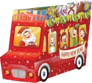 Подарок новогодний Веселый автобус Рошен 320 г – ИМ «Обжора»