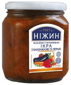 Икра из баклажанов и перца Нежин 450 г – ИМ «Обжора»