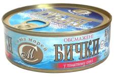 Конс, Союз-Морей 250г бички обсмаж у т/соусі – ІМ «Обжора»