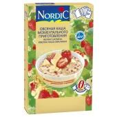 Сухий сніданок Каша Нордік 210г Вівсяна з білим шоколадом та полуницею – ІМ «Обжора»
