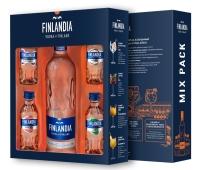 Горілка Фінляндія 0,5л + 4 смаки по 0,05л Набір – ІМ «Обжора»