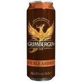 Пиво Грімберген 0,5л ж/б Дабл-Амбре – ІМ «Обжора»
