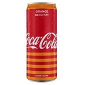 Вода Кока-кола 0,33л ж/б Zero Оранж – ІМ «Обжора»