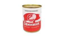 Конс, Алан 338г свинина тушкована  Козацька в/г ГОСТ ж/б – ІМ «Обжора»