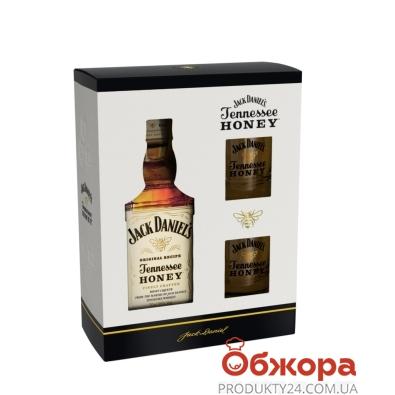 Виски-ликер Джек Дениэлс/Теннесси Хани 0,7 л + 2 стакана кор – ИМ «Обжора»
