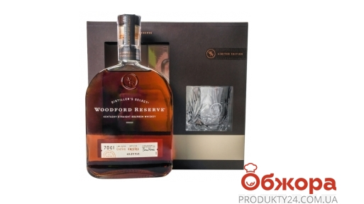 Виски Woodford Резерв 0,7 л + бокал – ИМ «Обжора»