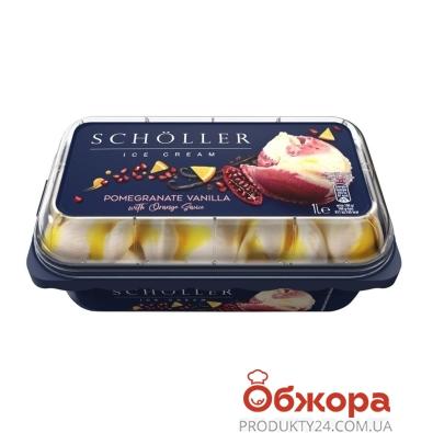 Мороженое Scholler Ваниль с гранатовым сорбетом и апельсиновым соусом 633 г – ИМ «Обжора»