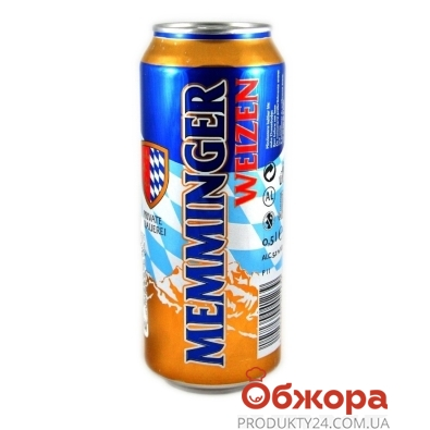 Пиво Memminger Weizen 0,5 л ж/б – ИМ «Обжора»