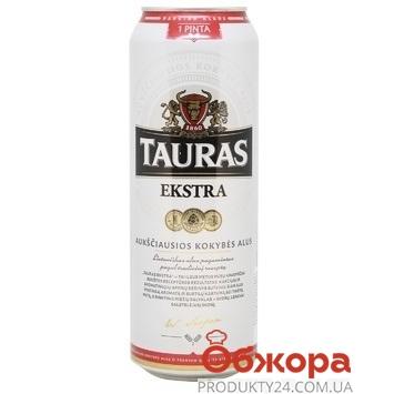 Пиво Tauras 0,568л ж/б Ekstra – ІМ «Обжора»