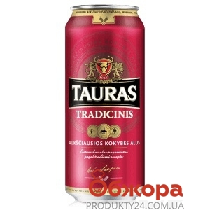 Пиво Tauras 0,568л ж/б Tradicinis – ІМ «Обжора»