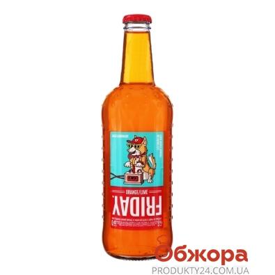 Напиток слабоалкогольный со вкусом апельсина и лайма `Friday` 0,45 л – ИМ «Обжора»