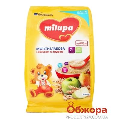 Каша Milupa 210г молочна мультизлакова з ябл та грушею з 7 міс – ІМ «Обжора»