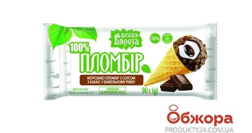 Мороз, Б,Б 90г Пломбір з шокол соусом Ріжок – ІМ «Обжора»