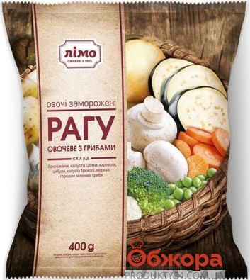 Зам. Овочі Лімо 400 г Рагу овочеве з грибами – ІМ «Обжора»