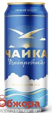 Пиво Перша Приватна Броварня Чайка Дніпровська ж/б 500 мл – ИМ «Обжора»