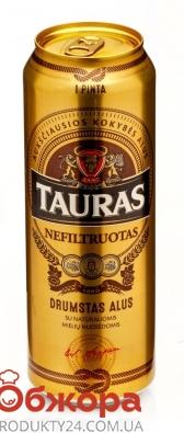 Пиво Tauras 0,568л ж/б Nefiltruotas – ІМ «Обжора»