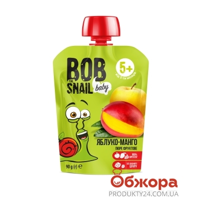 Пюре Яблуко - манго Bob the Snail 90 г – ІМ «Обжора»