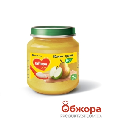 Пюре яблуко груша Milupa 125 г – ІМ «Обжора»