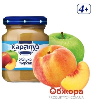 Пюре яблуко персик Карапуз 200 г – ІМ «Обжора»