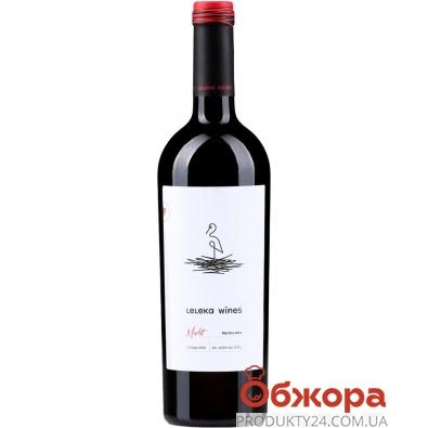 Вино червоне сухе Leleka Мерло 0,75 л – ІМ «Обжора»