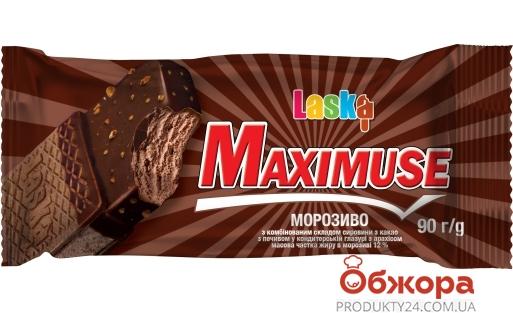Морозиво Максімус з какао брикет Ласка 90 г – ІМ «Обжора»