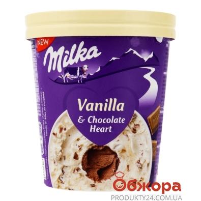 Морозиво Ваніль та шоколад карт. стакан Milka 319 г – ІМ «Обжора»