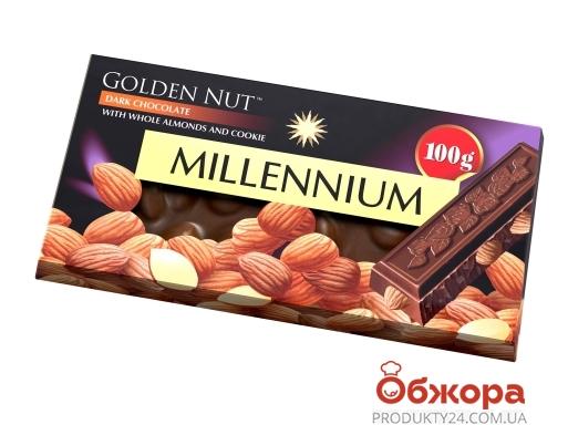 Шоколад чорний цілий мигдаль Millennium Gold 100 г – ІМ «Обжора»