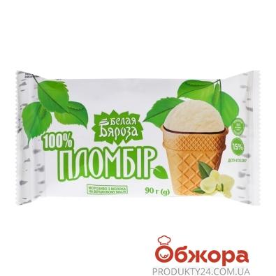 Морозиво Пломбір вафельний стакан Белая Бяроза 100 г – ІМ «Обжора»