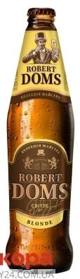 Пиво Львівське 4,6% Роберт Домс Blonde 0,5 л – ІМ «Обжора»