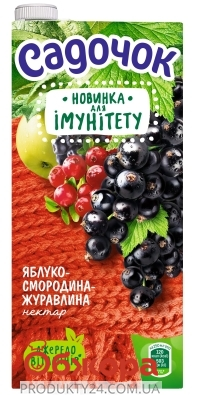 Нектар яблуко-смородина-журавлина Садочок 0,95 л – ІМ «Обжора»