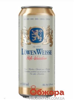Пиво 5,2% Weisse з/б Lowenbrau 0,5 л – ІМ «Обжора»