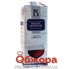 Вино кріплене міцне червоне Чорний віконт Винлюкс 1 л – ІМ «Обжора»