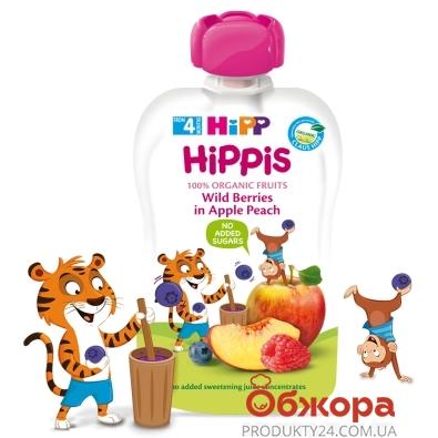 Пюре яблуко персик чорниця малина Hipp 100 г – ІМ «Обжора»