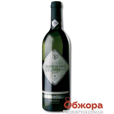 Вино Криково (Cricova) Шардоне марочное белое сухое 0,75 л – ИМ «Обжора»
