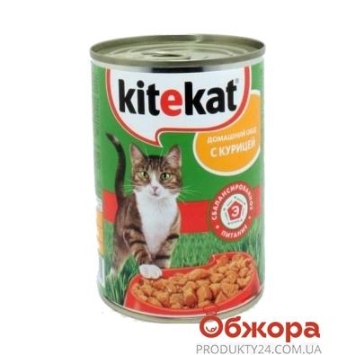 Корм Китикет (Kitekat) с курицей 410 г – ИМ «Обжора»