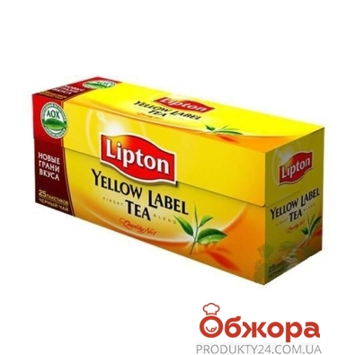 Чай Липтон (Lipton) Yellow Label 25 п – ИМ «Обжора»