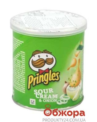 Чипсы Принглс (Pringles) крем/лук 50 г – ИМ «Обжора»