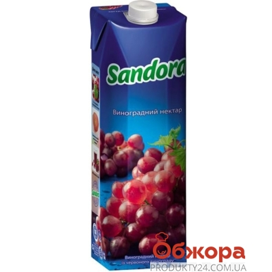 Сок Сандора (Sandora) виноград красный 1 л – ИМ «Обжора»