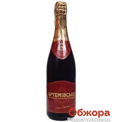Шампанское Артемовское красное игристое 0.75 л – ИМ «Обжора»