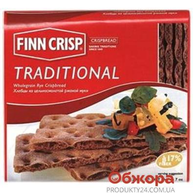 Хлебцы Финн Крисп  ржаные традиционные 200 г – ИМ «Обжора»