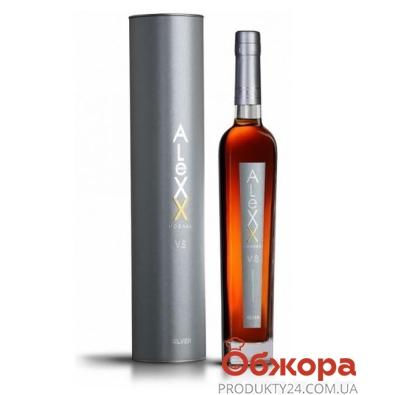"""Коньяк Таврия """"Алекс V.S."""" серебро 0,5 л. (тубус) – ИМ «Обжора»"""