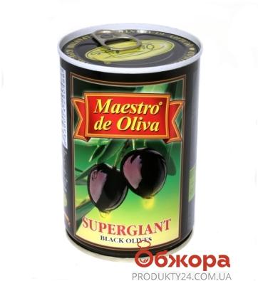 Маслины Маэстро супергигант 425г с косточкой – ИМ «Обжора»