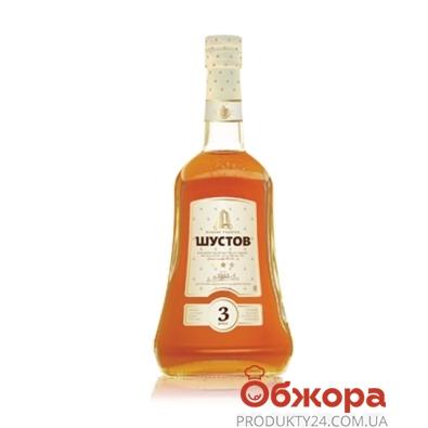 Коньяк Шустов ординарный  3* 0,25л – ИМ «Обжора»
