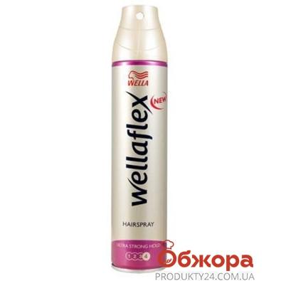 Лак для волос Веллафлекс (WELLAFLEX) супер сильная фиксация 200 мл – ИМ «Обжора»