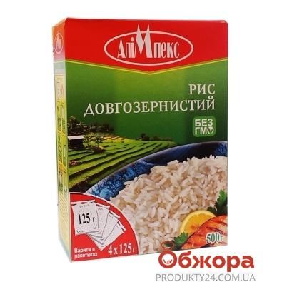 Рис Алимпекс 4*125г длиннозернистый – ИМ «Обжора»