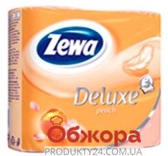 Туалетная бумага Зева (ZEWA) Deluxe Peach ароматная 4 шт. – ИМ «Обжора»