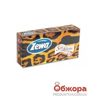 Салфетки для лица Зева (ZEWA) Мир Саванны 2 слоя 100 шт. – ИМ «Обжора»