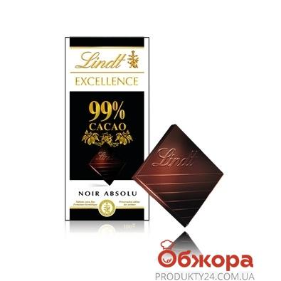 Шоколад Линдт Экселенс 99% черный, 50 гр. – ИМ «Обжора»