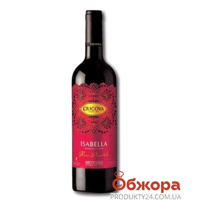 Вино Криково (Cricova) Кружева Изабелла красное п/сл 0.75 л – ИМ «Обжора»