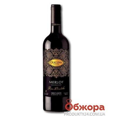 Вино Криково (Cricova)  Кружева Мерло красное п/сл 0.75 л – ИМ «Обжора»